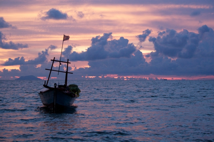 A fisherman's boat at Koh Tonsay, an island in the Gulf of Thailand where I was 2 weeks ago. (Photo copyright me)
